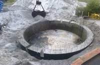 zbiornik zapuszczany, okrągły, funkcja przepompowni deszczowej